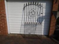Heavy duty metal garden gate