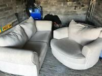 2 seater and swivel chair