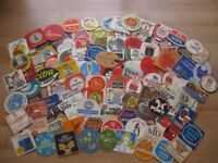 Collection of beermats from the 70s