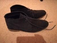 Next Mens Navy Suede Desert Boots Size 10