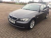 BMW 320D 2008 GREY 4 DOOR SALOON 6 SPEED MANUAL