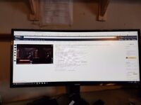 samsung ultra wide 21.9 like new 6 months old cost over 400 29 inch