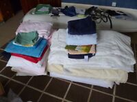 Mixed bedding - quilts - pillows - towels etc.