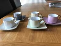 Coffee set. Lignee hotess. 5 cups, 5 saucers