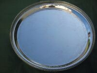 Brand New Decorative Large EPNS Cake Tray on Three Legs