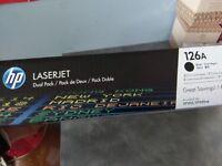 2 x BRAND NEW (still in original boxes) HP LASERJET 126a BLACK TONER INK
