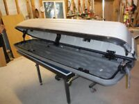 """7ft 6"""" long car roof box. Made for BMW. Can use with straps on any car"""