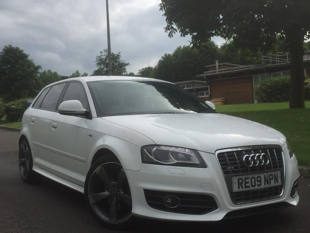2009 audi a3 s line quattro 2 0l tfsi s tronic auto full s3 replica ibis white sportback drls. Black Bedroom Furniture Sets. Home Design Ideas