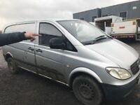Mercedes Vito 109cdi breaking bonnet wings mirrors lights radiator wheels seats