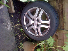 tyre and alloy wheel -honda jazz sport 07 plate