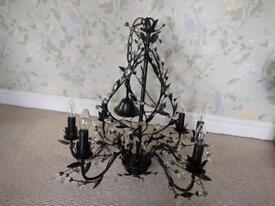 Decorative metal crystal chandelier