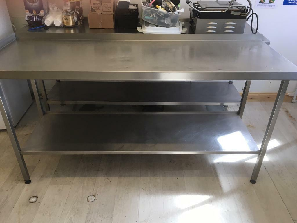 Stainless Steel Prep Table With Lip In Derriford Devon Gumtree - Stainless steel table with lip