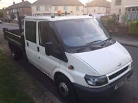 2005 FORD TRANSIT TIPPER. 3 MONTHS WARRANTY. REAR SEATS CAN TURN INTO EXTRA COMPARTMENTS.2/2017 MOT.