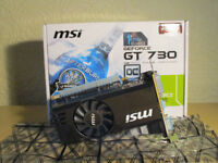 MSI GT730 Graphics Card with 1GB of DDR5 for sale