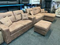 NEW - EX DISPLAY DFS CORNER SOFABED SOFA BED + 2 SEATER SOFA + FOOTSTOOL 70%Off RRP