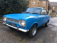 1973 MK1 FORD ESCORT 1300 XL MANY ORIGINAL PARTS 12 MONTHS MOT BLUE NEEDS A FEW BITS TO FINISH OFF