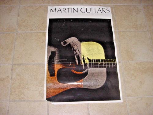 VINTAGE MARTIN GUITAR DEALER POSTER 70S/ 80S