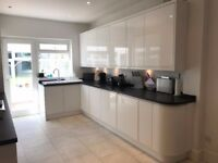 Cooke & Lewis white gloss kitchen units and appliances for sale