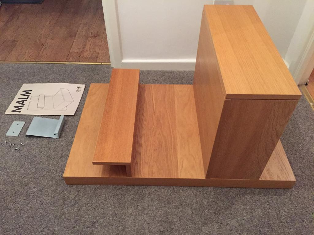 Ikea malm bedside table floating shelf drawer in ashton in makerfield manchester gumtree - Ikea bed frame with attached nightstand ...