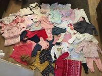 Large bundle of baby girls 3-6 month clothes