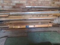 Various lengths and thicknesses of wood