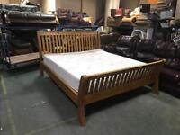 John Lewis Superking bed mattress solid wood Can deliver