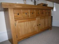 Solid Oak sideboard storage cupboard