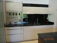 EX KITCHEN DISPLAY SILVER COSMOS GRANITE WORKTOPS WITH NEFF INDUCTION HOB & BLANCO SINK & TAP £1950