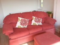 DFS velour 2 and 3 seater sofas