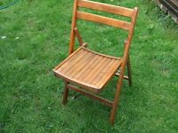 Wooden folding chairs x 4