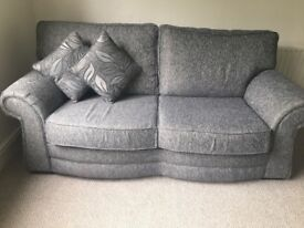 2x 3 Seater sofas With reversible Cushions in Grey