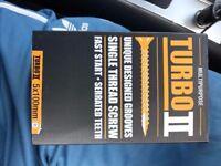 turbo gold woodscrews 5x100 single thread 134 boxes