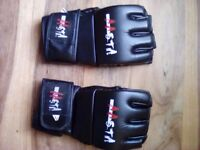 Three pairs of gloves, boxing and MMA