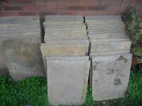 38 Sandstone/Grey Patio slabs