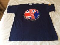 1997 tee shirt by tetley sponsor for the ashes