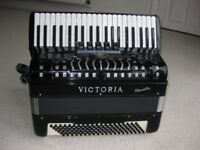 Quality Italian Accordion by Victoria with compact keyboard