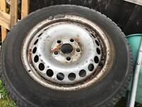 STEEL WHEELS AND TYRES X4 OFF VW T5
