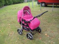 Lovely pink baby sportive buggy in good used condition