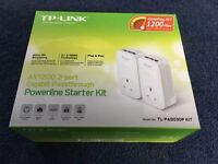 TP-LINK home plug 1200mbps power line starter kit