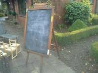 Vintage Blackboard and stand