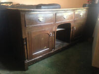 Lovely Antique Dresser Base/Sideboard. Solid Oak Very solid and Heavy