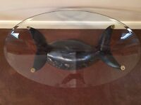 Glass Dolphin Coffee Table