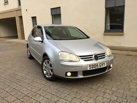VOLKSWAGEN GOLF 2.0 FSI GT 2005 WITH ONLY 63000 MILES AND MOT 1 YEAR MINT CONDITION