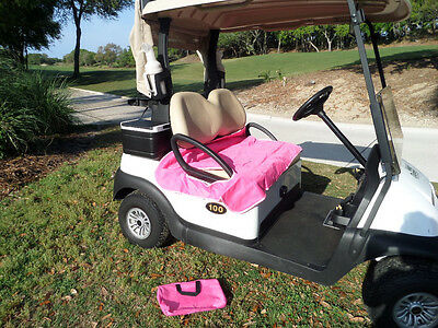 Golf Cart Seat Blankets -Pretty in Pink/carry case + Amer. Cancer Soc - Golf Cart Pink