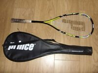 Prince Triple Threat (Titanium Tungsten Carbon) PR Bandit Squash Racket With Cover Great Condition