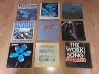 9 x runrig 7 inch vinyl singles