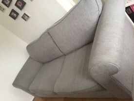 3 seater grey sofa from DFS