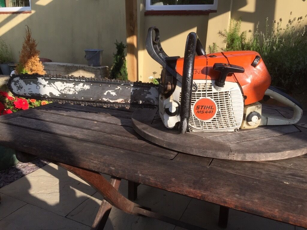 "for sale stihl ms 441 chainsaw 20"" bar - 4.1 kw output 