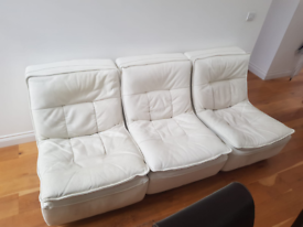 Set of 3 fidelity leather arm chairs