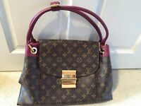 Authentic LOUIS VUITTON Olympe Aurore handbag and wallet